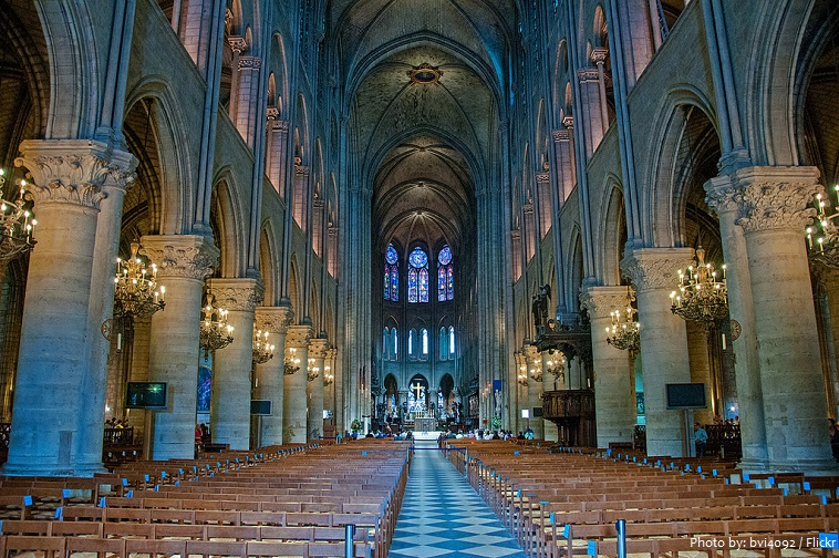 Inside Notre Dame Cathedral interior