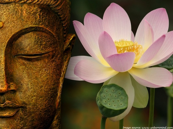 buddha and lotus