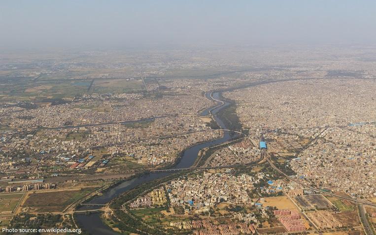 delhi aerial photo