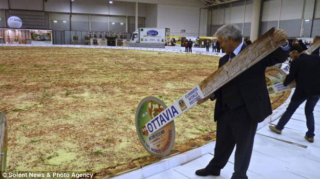 the largest pizza in the world