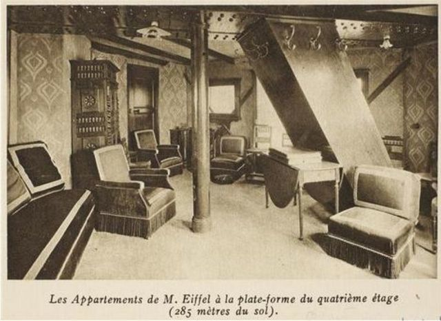 apartment at the top of the eiffel tower