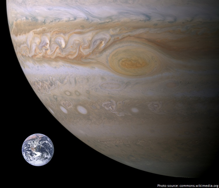 jupiter vs earth