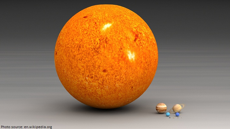 planets and sun size comparison
