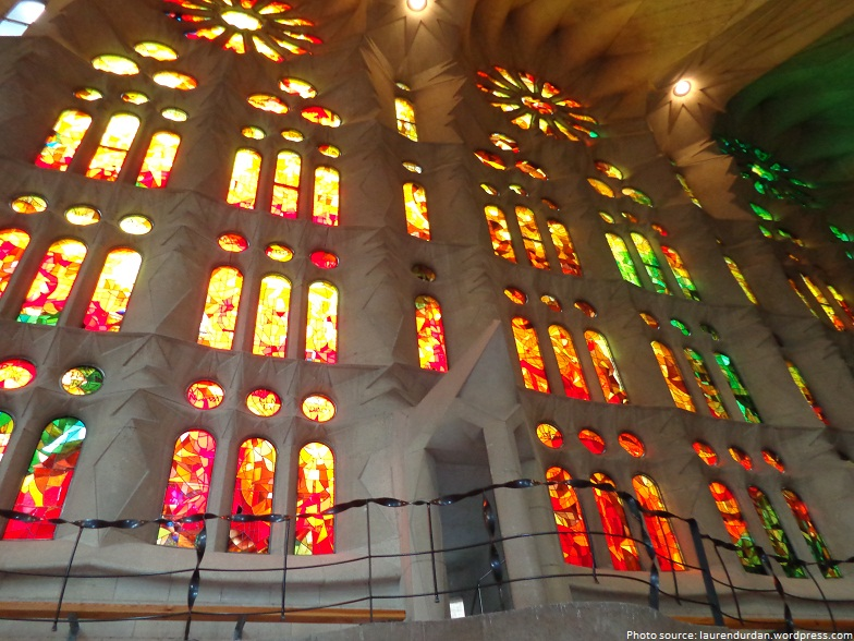 sagrada familia glass mosaic