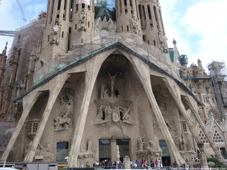 sagrada familia the passion facade