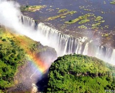 victoria falls from air