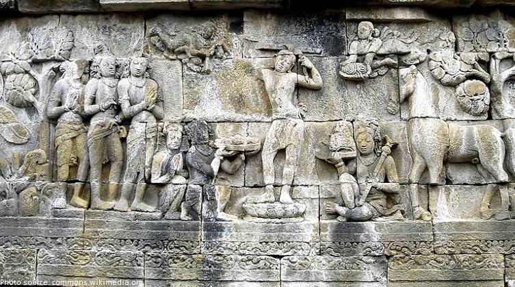borobudur walls reliefs