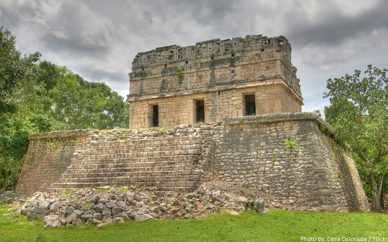 chichen itza casa colorada