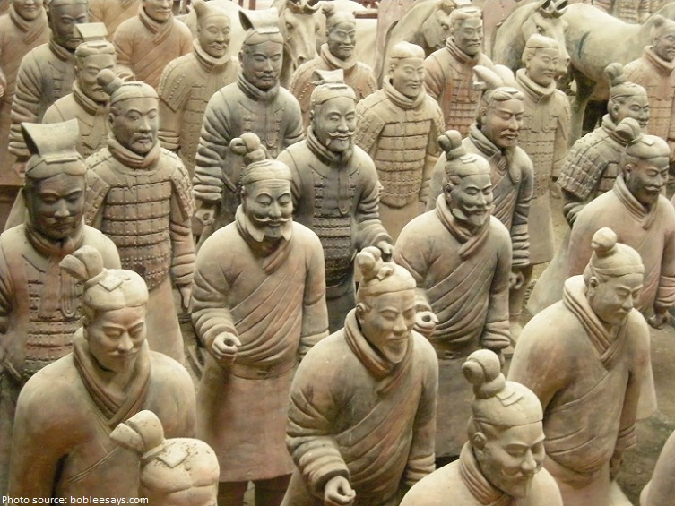 each statue is different terracotta-army