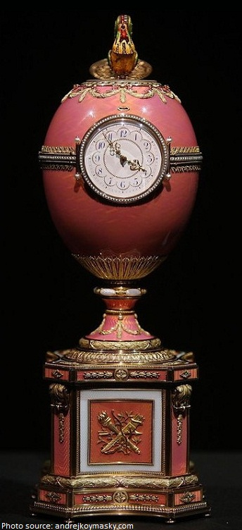 faberge rothschild clock egg