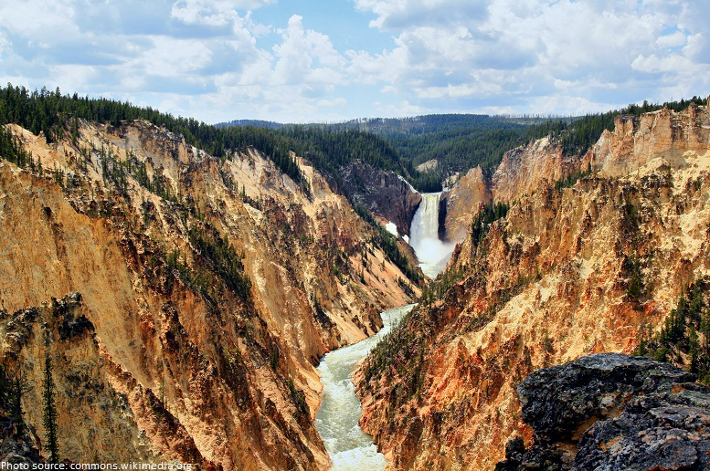 grand canyon of yellowstone and yellowstone fall