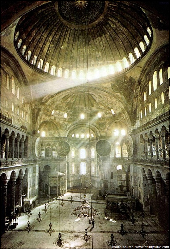 hagia sophia mystical light