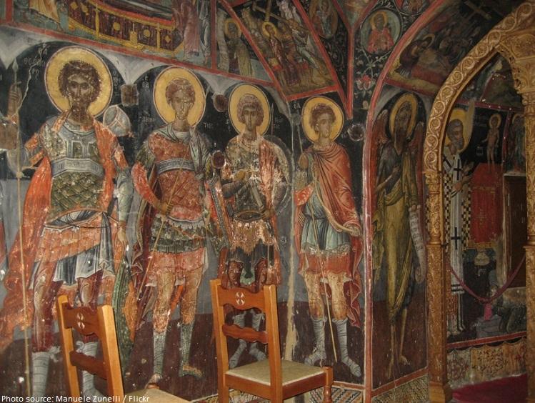 holy monastery agios nikolaos anapaphsas frescoes