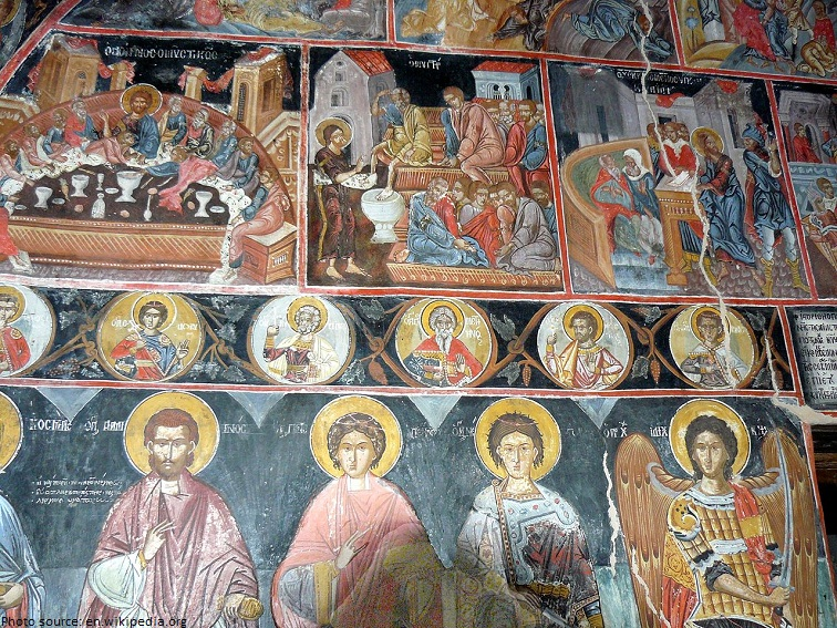 holy monastery of holy trinity frescoes