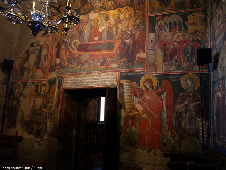 holy monastery of st stephen frescoes