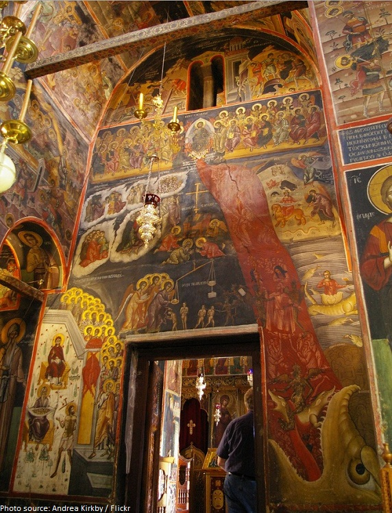 holy monastery of varlaam frescoes