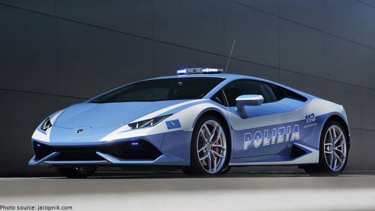 italian traffic police lamborghini gallado