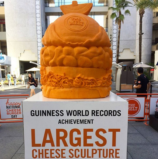 largest cheese sculpture the melt