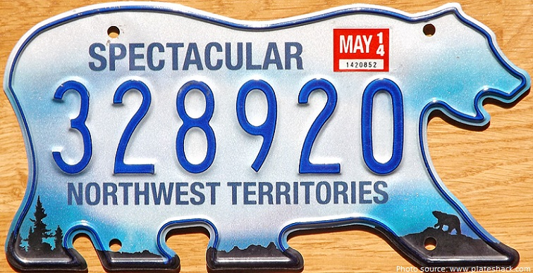 licence plate shaped like polar bears