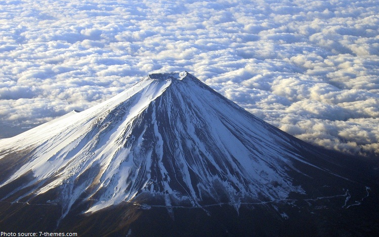 mount fuji from air
