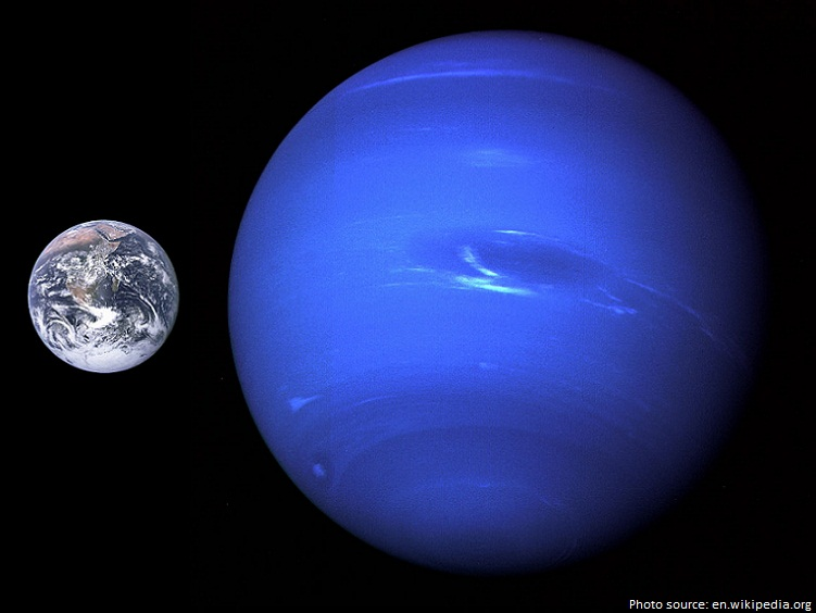 neptune vs earth