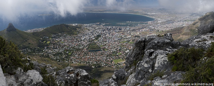 panoramic view from table mountain