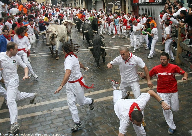 running with the bulls