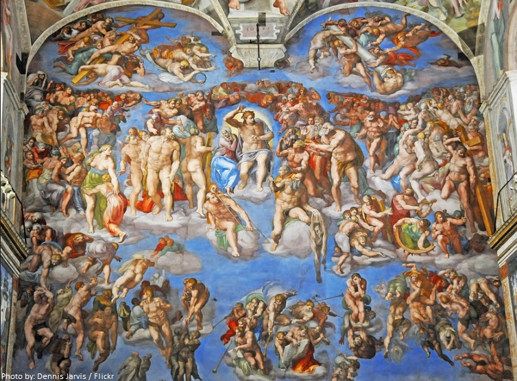 the last judgment michelangelo