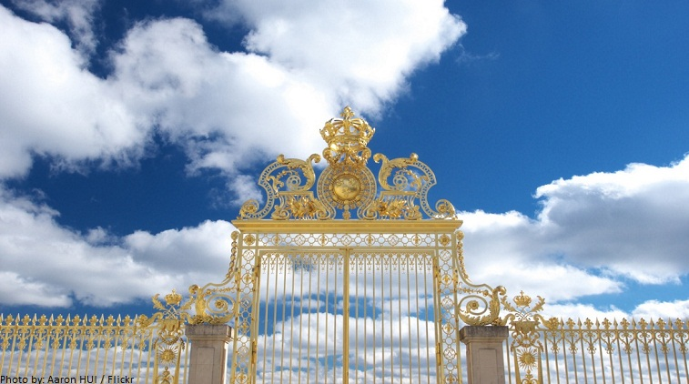 golden gate to the palace of versailles