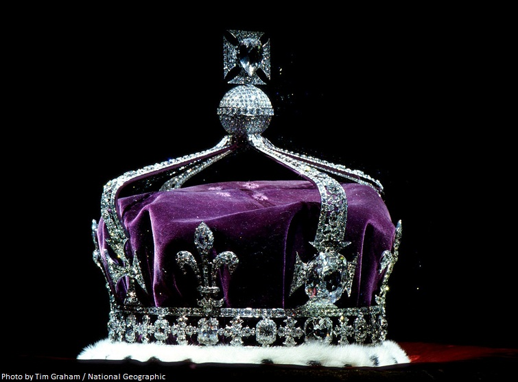 koh i noor diamond crown