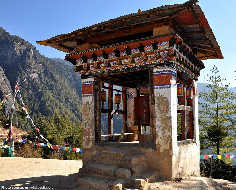 paro taktsang prayer wheel