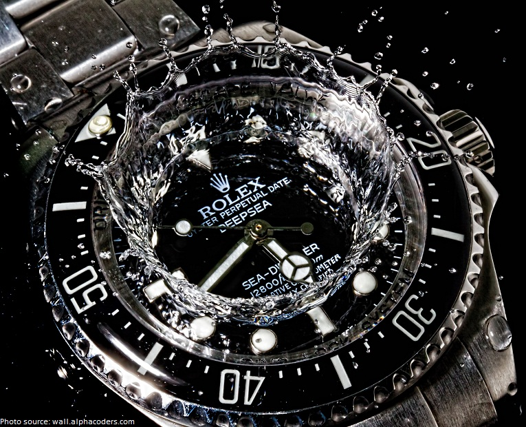 rolex waterproof watch