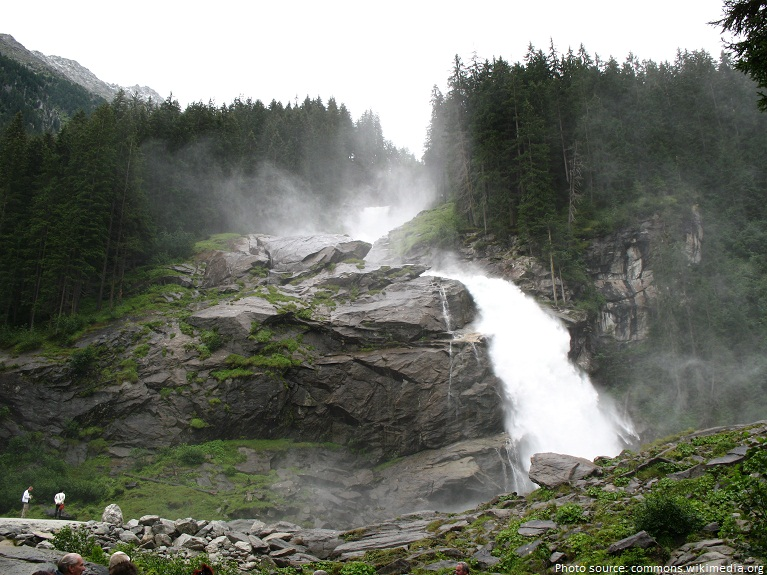 the krimml waterfalls