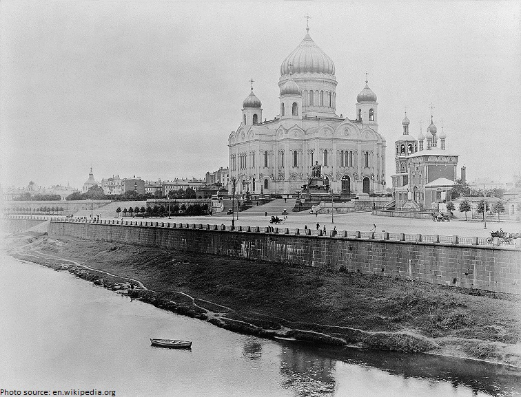the old cathedral of christ-the saviour