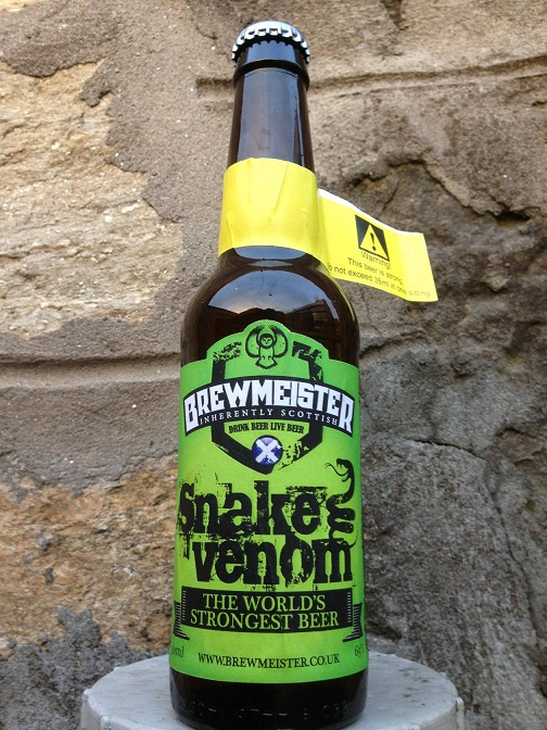 the worlds strongest beer snake venom
