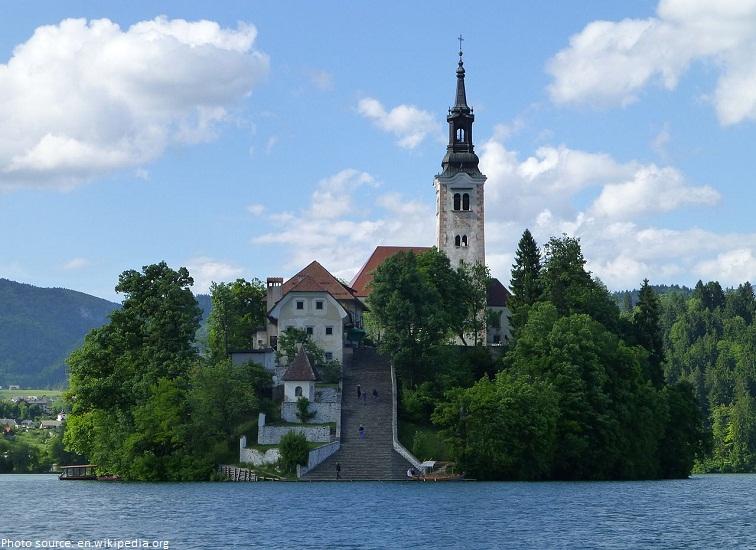 lake bled church