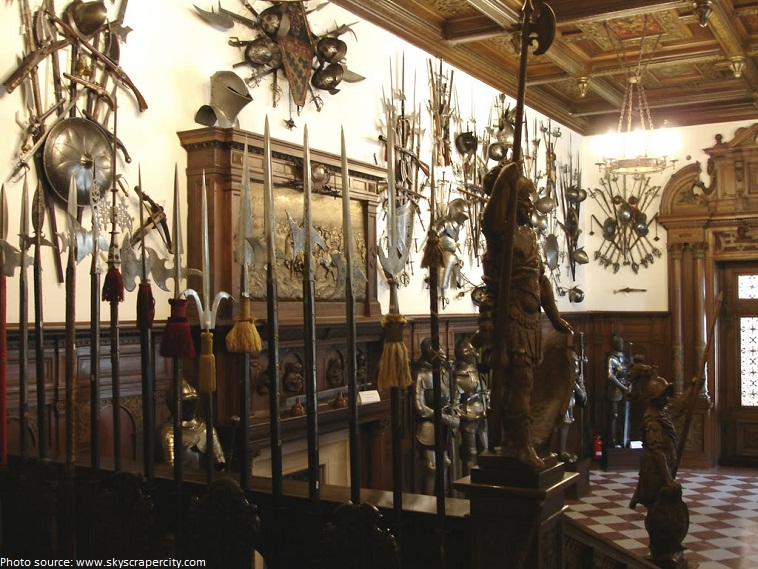 peles castle arms and armor