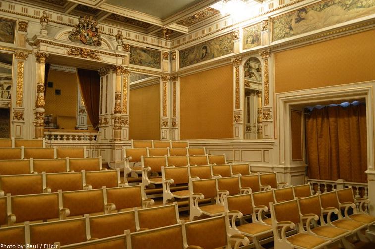peles castle theater hall