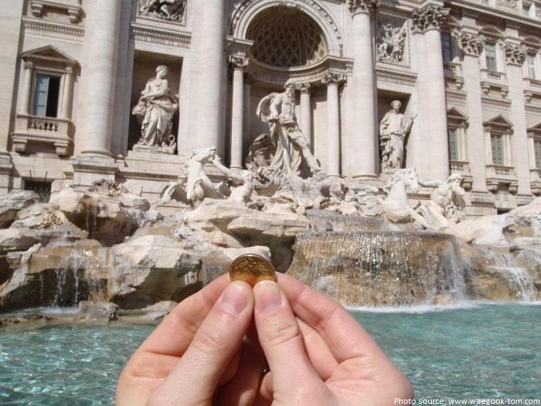 trevi fountain coin