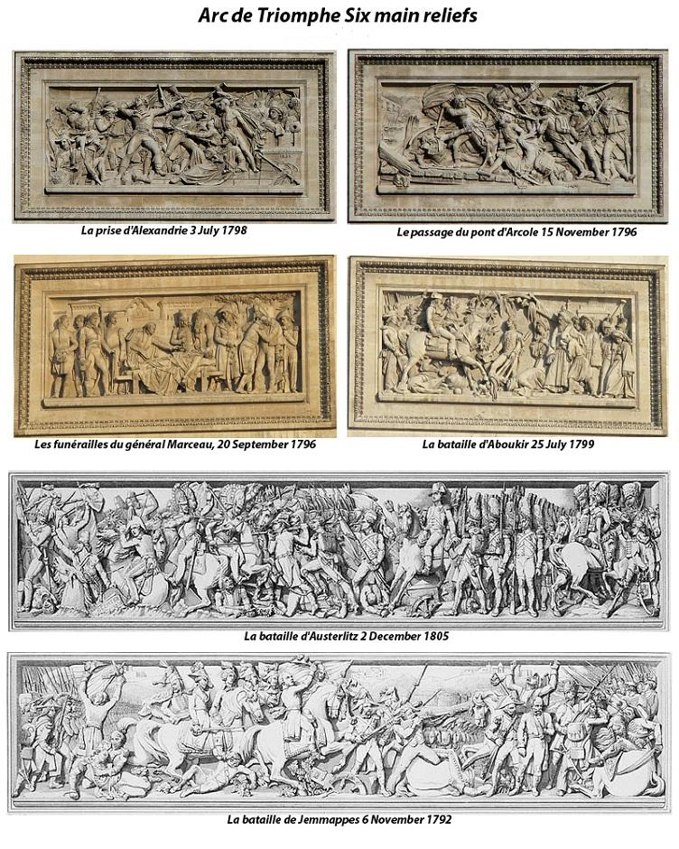 Arc de Triomphe reliefs