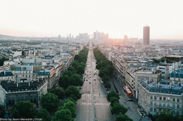 arc de triomphe view