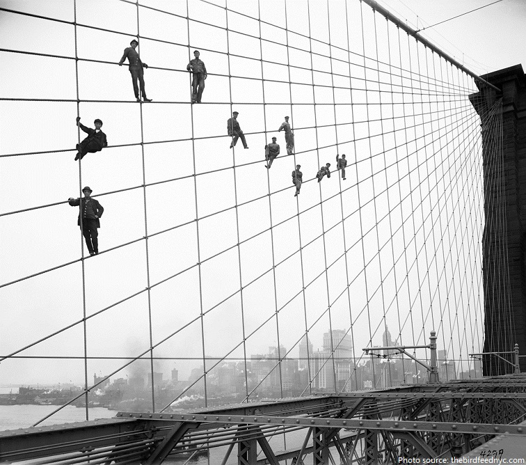 brooklyn bridge construction