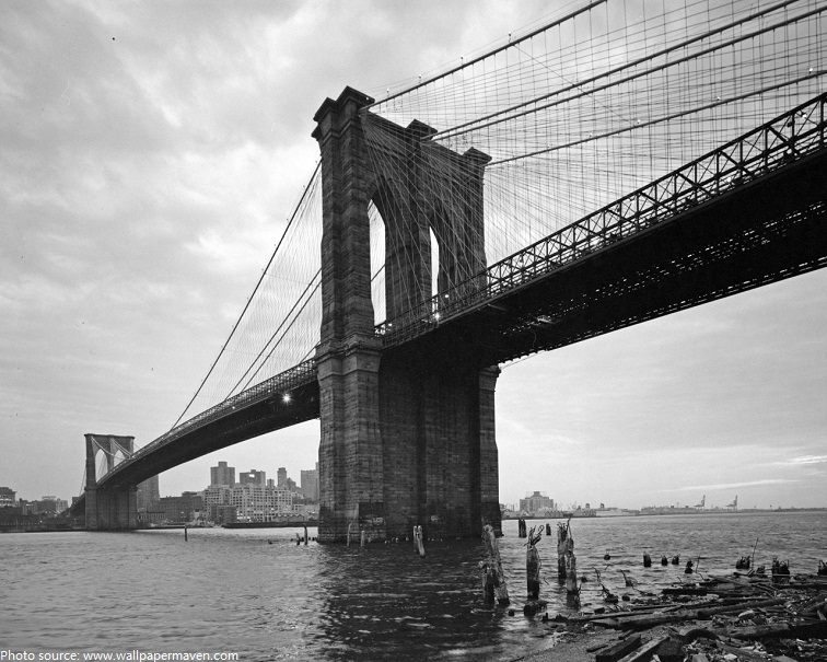 brooklyn bridge old photo