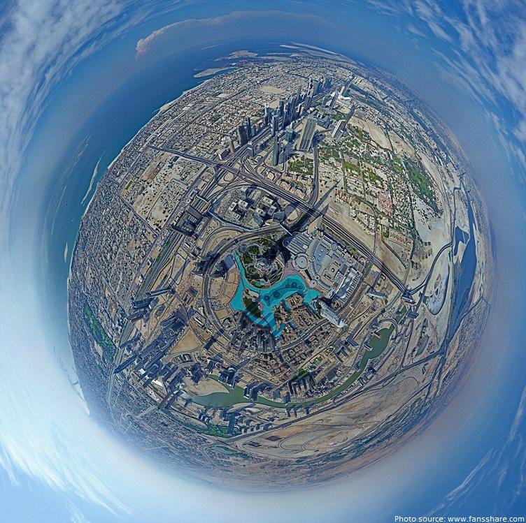 burj khalifa 360 degree view