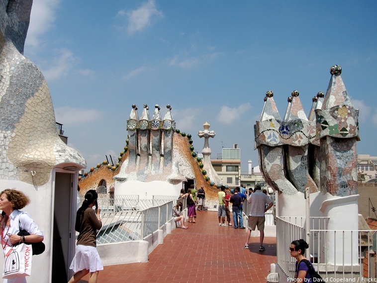 casa batllo roof terrace