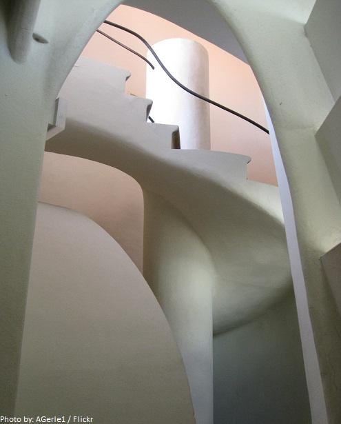 casa batllo spiral staircase