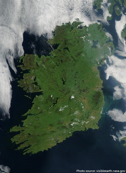 ireland from space
