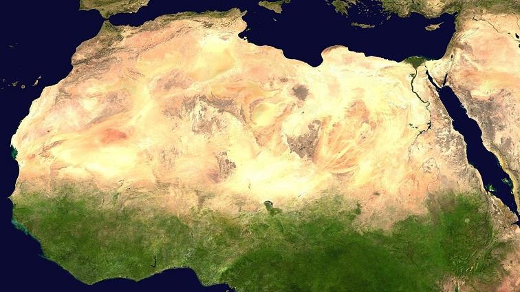 sahara desert satellite