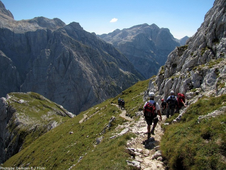 slovenia mountain trail