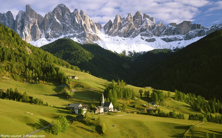 The Alps Are The Highest And Most Extensive Mountain Range System That Lies Entirely In Europe Stretching Approximately  Miles Across